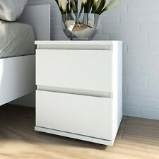 Tvilum Nova Collection Bright 2-Drawer Nightstand in White Finish, 7109249 New