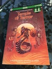 TEMPLE OF TERROR 1986 EDITION FIGHTING FANTASY GAMEBOOK  IAN LIVINGSTONE
