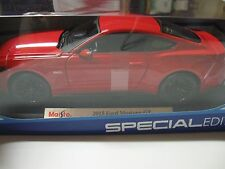 MAISTO 1:18 SCALE 2015 FORD MUSTANG GT 5.0 DIECAST CAR~ RED~