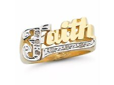 Personalized Diamond Shiny Name Ring - Unisex Script Style 9MM Sterling Silver o