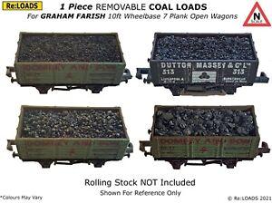 Removable 1 Piece COAL & COKE Loads for N Gauge GRAHAM FARISH 10ft Open Wagons
