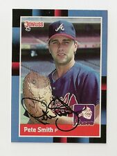 1988 DONRUSS PETE SMITH AUTO AUTOGRAPH CARD #571 SIGNED IN PERSON BRAVES
