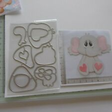 *Cutting Dies* ELEPHANT*Christmas*Birthday*Cards*Topper