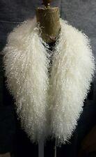 Real Natural Mongolian Tibetan Lamb Detachable Fur Collar  made in the U.S.A.