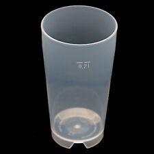500 Stück Mehrwegbecher 0,2L Plastikbecher Kunststoffbecher PP transparent NEU
