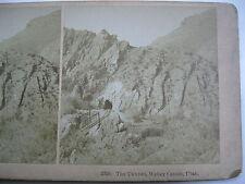 1800's RAIL ROAD, RR, THE TUNNEL WEBER CANON, UTAH, STEREOVIEW