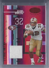 2005 Leaf Certified Materials FB Kevan Barlow 49ers Red Jersey Card #14/100