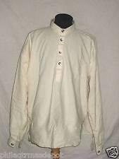 Muslin Shirt - Off White w/Pewter Buttons Round Collar - Xlarge - Civil War !
