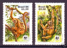 BRASILIEN Michel-Nr. 2052-2053 **, WWF: Affen