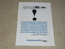 Marantz 1964 Ad, Model 9 Tube Amp, Model 7 Preamp, B-9, Model 10 FM Tuner, 1 pg