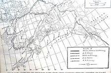 New listing Map of Alaska 1891 FRANK LESLIE EXPLORATION Matted Antique Art Print Engraving