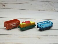 Sodor Dairy Mcolls Farm Thomas and Friends Trackmaster Cow Milk Cargo Cars Lot