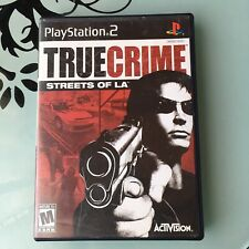 True Crime Streets of L.A. Ps2 Complete Tested Working Black Label PlayStation 2