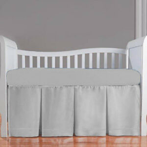 5pc Toddler Bedding set Flat Fitted Pillowcase Comforter Front Three Pleat Skirt