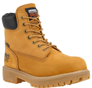 "Timberland PRO Men's TB065016 Direct Attach 6"" Steel Toe Work Boots Wheat Nubuck"