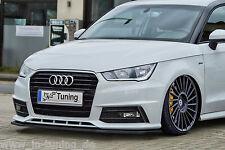 Spoilerschwert Frontspoilerlippe Cuplippe aus ABS Audi A1 8X Facelift S-Line