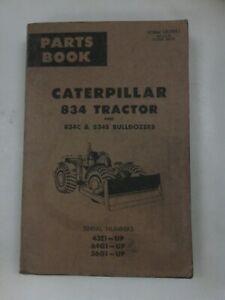 Caterpillar 834 Tractor 834C 834S Bulldozer parts manual. Genuine Cat book.