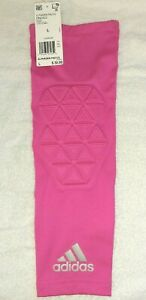 Adidas Padded PINK Basketball Volleyball Football Arm Elbow Sleeve L LARGE