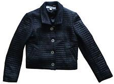 VTG KATHARINE HAMNETT LONDON Women's Black Cropped Quilted Jacket Sz 42 (6-8 US)