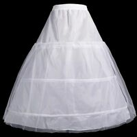 3 Cerceau 2 Couche Blanc Jupon Pour Robe De Mariée