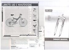 Libretto istruzioni bicicletta Pininfarina ALUMINIUM - Uso e Manutenzione bici