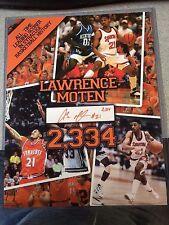 Lawrence Moten Signed Syracuse Basketball 11x14 Photo All Time Scorer Insc 2334