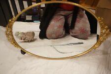 Vintage Gold Embellished Vanity Tray Mirror  00006000