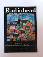 *RADIOHEAD GERMANY TOUR 2003 DOUBLE-SIDED PROMOTIONAL FLYER - GREAT CONDITION*