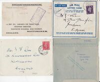 * 1918/52 4 MILITARY PERSONNEL COVERS & CARD WW1 & 2 FPO ALL DIFF TO NOTTINGHAM
