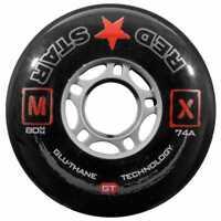 Red Star Inline Roller Hockey Wheels~Rebel~Scorpion~Triton~Sniper 72MM~76MM~80MM