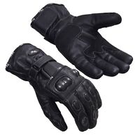 Winter Leather Thermal Lined Biker Motorbike Motorcycle Waterproof Gloves Norman