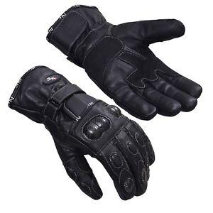 Winter Leather Thermal Lined Biker Motorbike Motorcycle Waterproof Gloves Norman