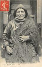 "Fisherman ""Type de Pécheur"" Costume Fishing French 1911 Vintage Postcard"
