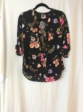 NWT Express Floral Chelsea Popover Top  - S (Measurement In Pic)