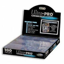9 Pocket Pages Sheets Lot of Ten Ultra Pro Platinum Sports Cards Trading Cards