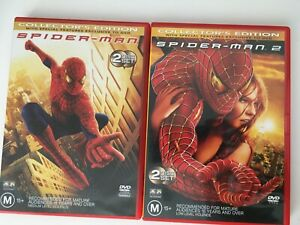 Spider-Man 1 & 2 Collectors Edition DVD-FREE EXPRESS POSTAGE