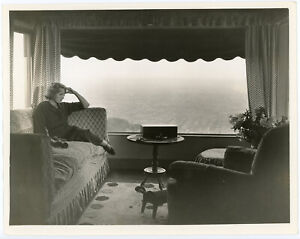 Joan Blondell At Her Home Overlooking Hollywood Hills Original 1930s Photograph