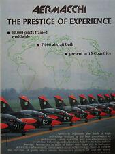 1/1990 PUB AVION AERMACCHI MB-339 MILITARY JET TRAINER ORIGINAL AD