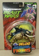 TORCA Transformers Beast Wars Fuzor Deluxe Killer Whale 1998 Hasbro w/ Box RARE