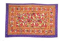 Vintage Rabari Indian Banjara Embroidered Art Wall Hanging Decoration Tapestry.