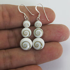 Nice Thailand Shiva Eye Earrings Sterling Silver  1011