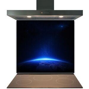 Kitchen Glass Splashback Toughened Tile Cooker Panel Any Size Blue Earth