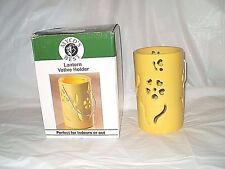 """5 3/4"""" YELLOW INDOOR & OUTDOORS LANTERN VOTIVE HOLDER NEW IN BOX FREE SHIPPING"""