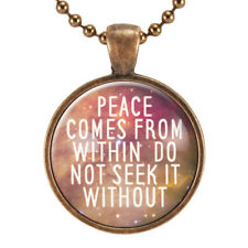 Buddha Quote Necklace, Yoga Jewelry, Motivational Quote Pendant