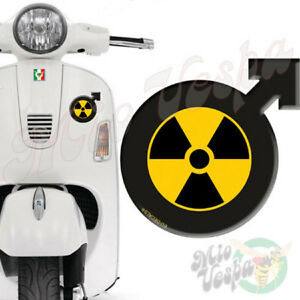 Male Symbol RadioActive 3D Decal sticker for Vespa GTS GTV GT 125 250 300 50 ET