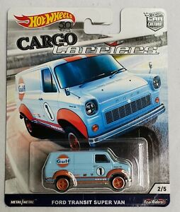 2017 Hot Wheels Car Culture Cargo Carriers Ford Transit Super Van ~ Real Riders
