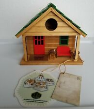 Man Cave Birdhouse by Home Bazaar, Fully Functional, Non-Toxic, Hardwood NWT