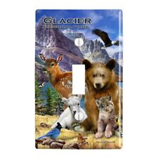 Glacier National Park Montana Animals Wall Light Switch Plate Cover