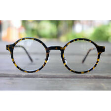Nerd Brille filigran rund Glasses Klarglas Hornbrille treber 50R14 Leopard