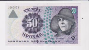 DENMARK BANK 50 KRONER BANKNOTE SUPERB CONDITION